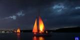 12 парусных яхт «станцевали» вальс для выпускников в Иркутске