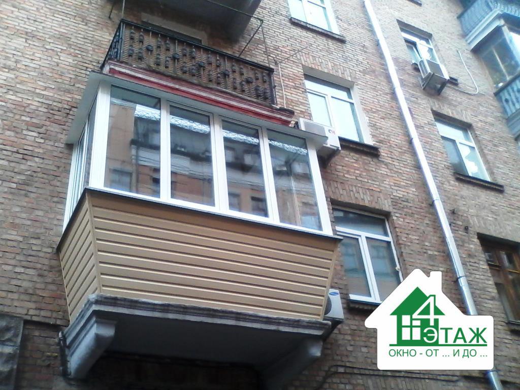 """Цены, стоимость остекления балкона в киеве от компании """"4 эт."""