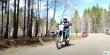 Мотоциклисты и казаки патрулируют леса под Ангарском